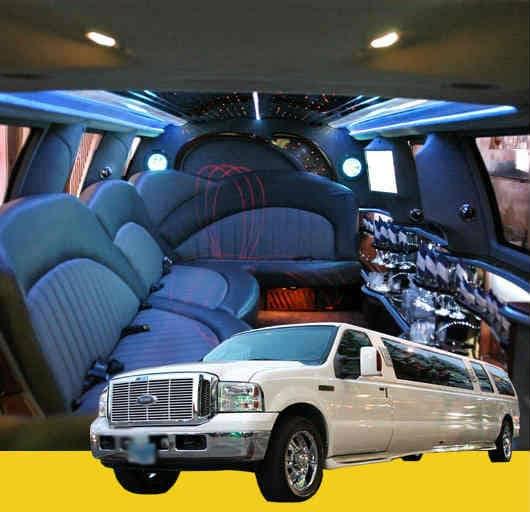 White Excursion Stretch Limousine