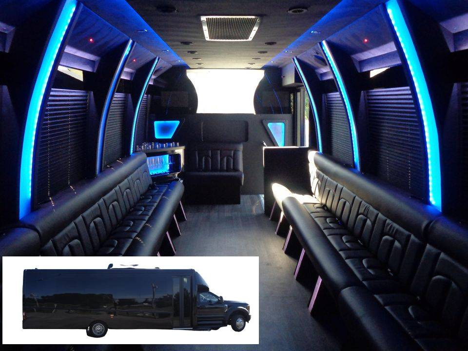 Ford F-550 Limo bus for Calgary airport Limo